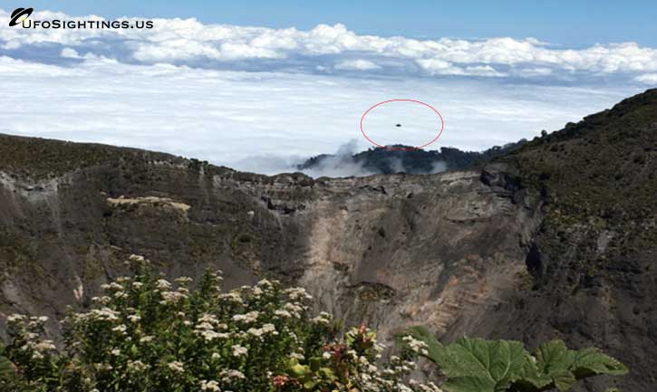 ufo sightings at costa rica volcano