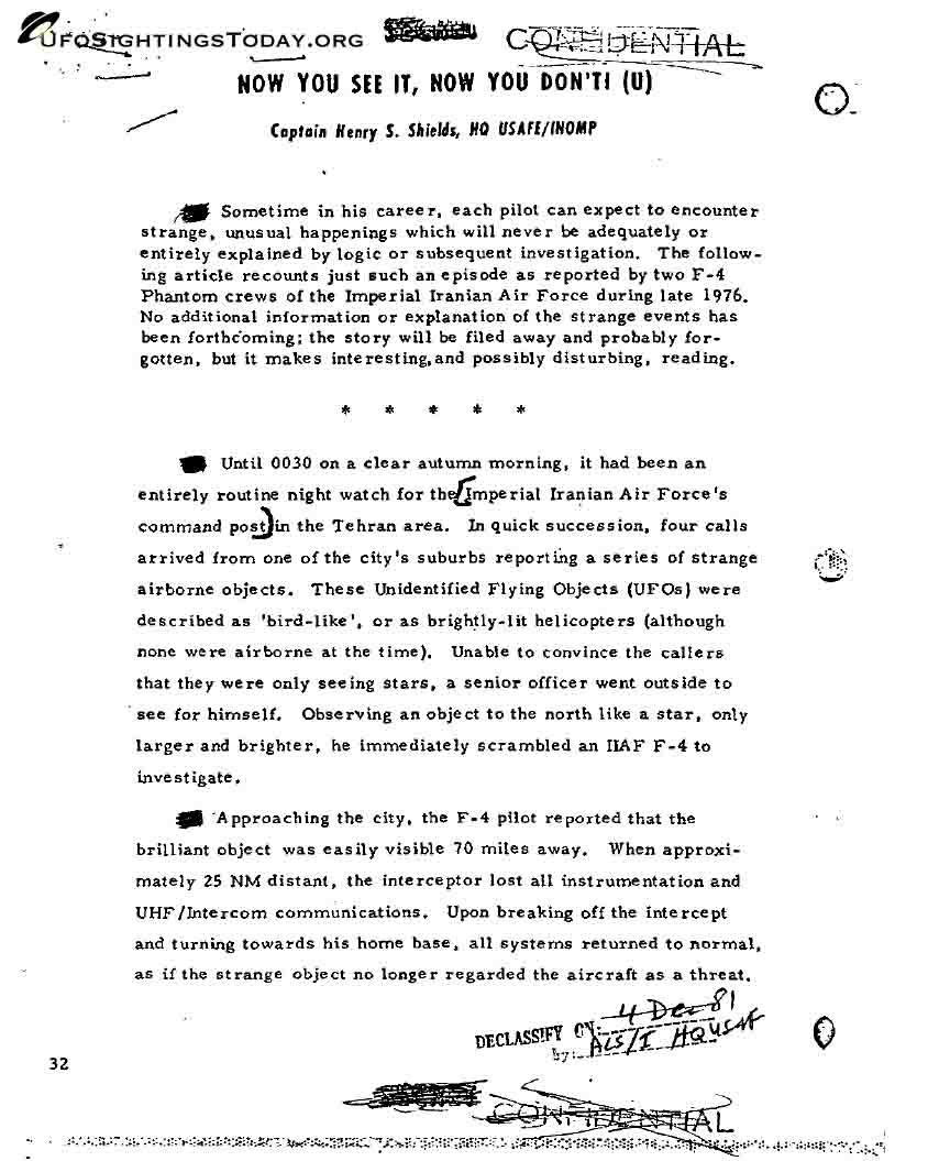 1976 tehran ufo incident