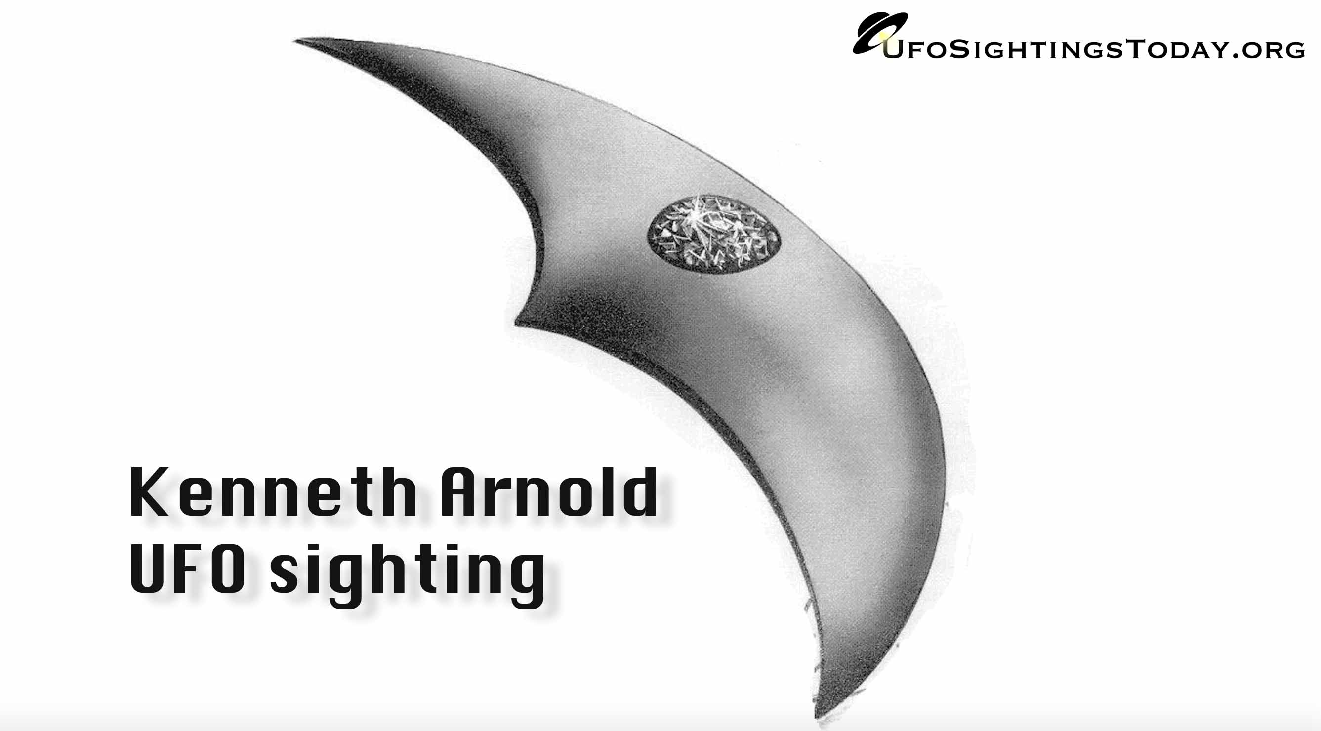 kenneth arnold ufo sighting