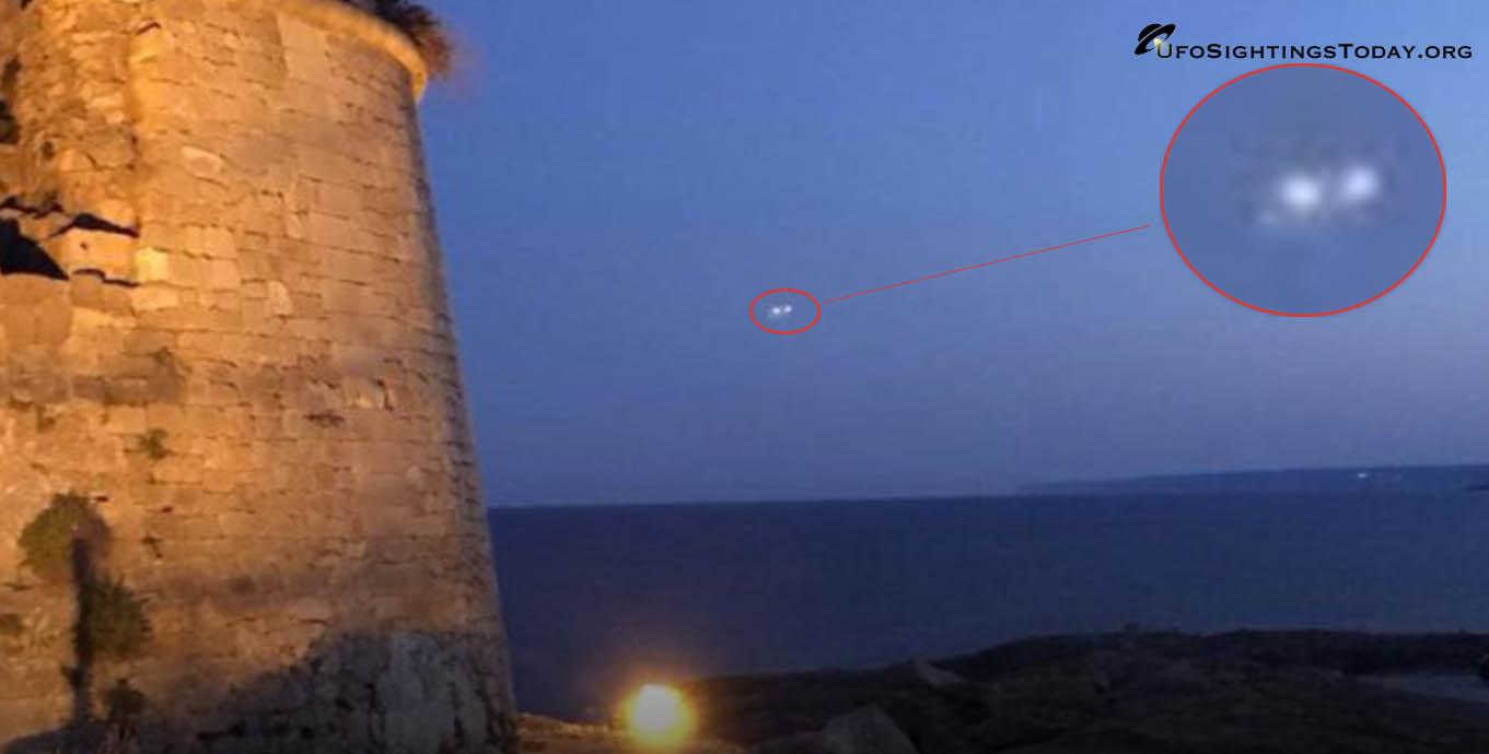 ufo spotted in porto miggiano