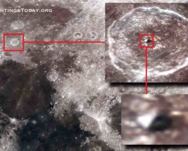 Ancient pyramid has been found on the moon