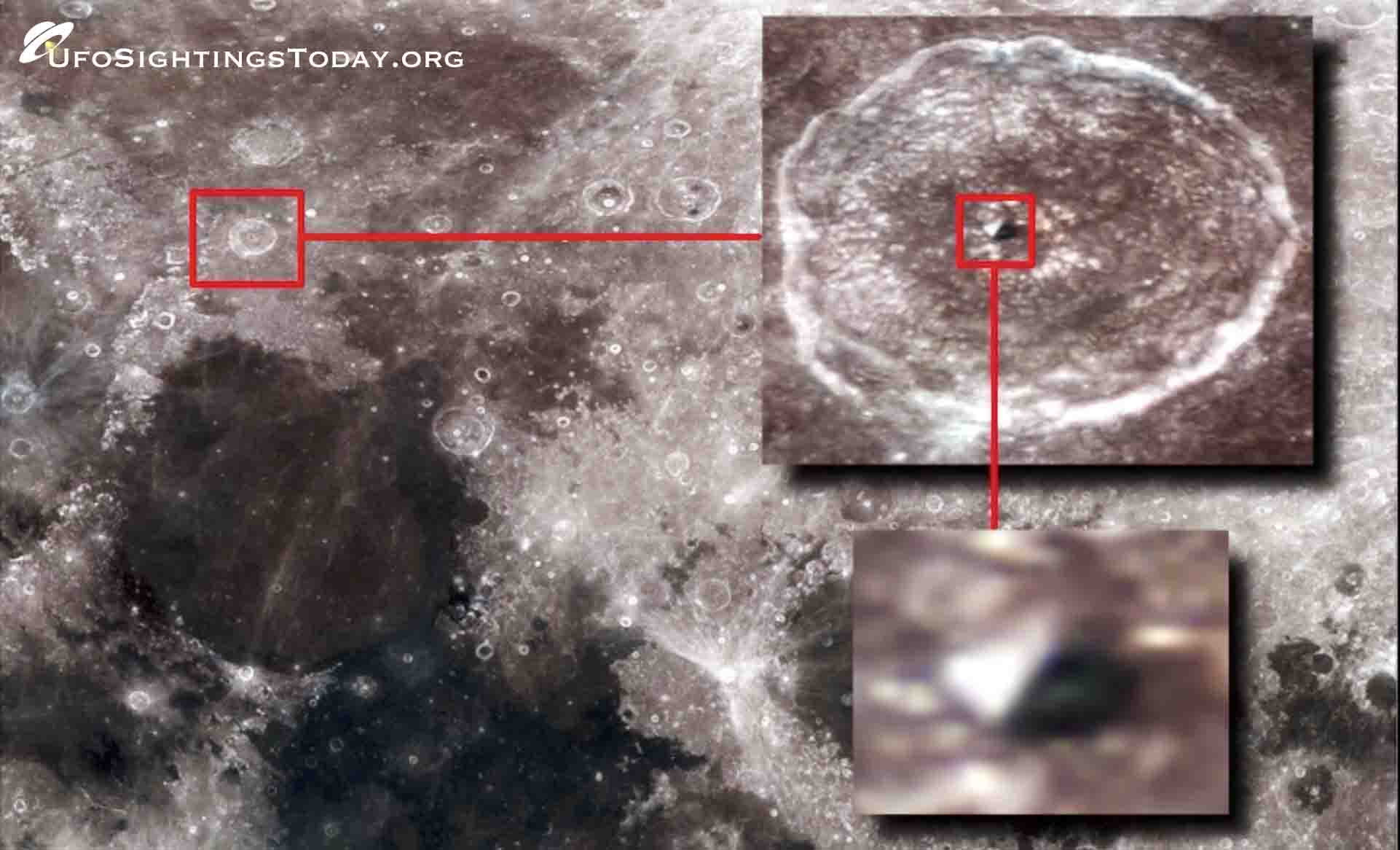 ancient pyramid has benn found on the moon