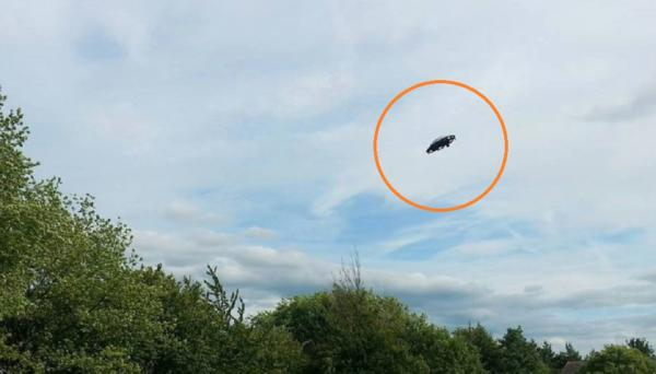 leicester england flying ufo