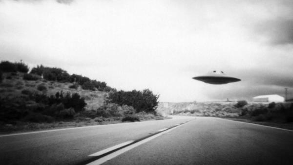 ufo in california old photo