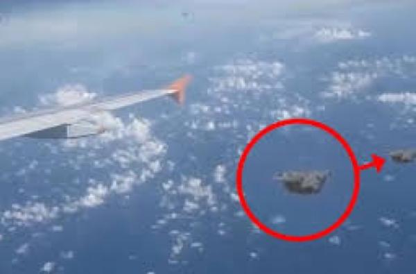weird ufo shape from airplane